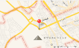 エジプト カイロ「エジプト考古学博物館」への車窓 ピラミッド通過 マップ