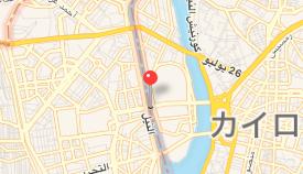 エジプト カイロ「エジプト考古学博物館」への車窓 ナイル川 マップ