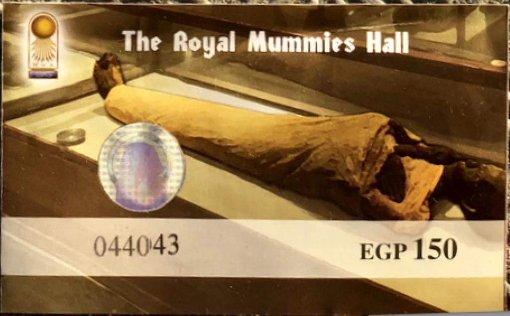 エジプト カイロ 「エジプト考古学博物館」 ミイラ室 チケット