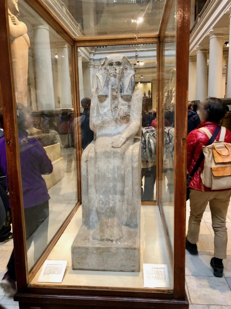 エジプト カイロ「エジプト考古学博物館」1階年代別エリア ジェセル王 等身大の像