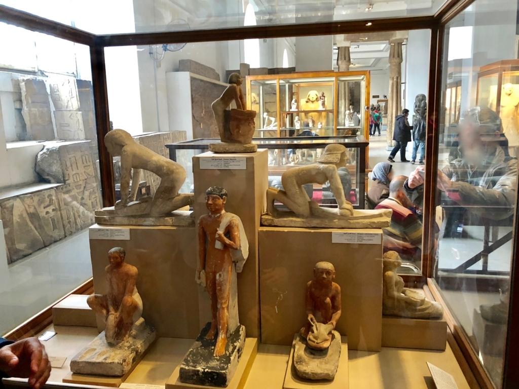 エジプト カイロ「エジプト考古学博物館」1階年代別エリア 庶民の生活像