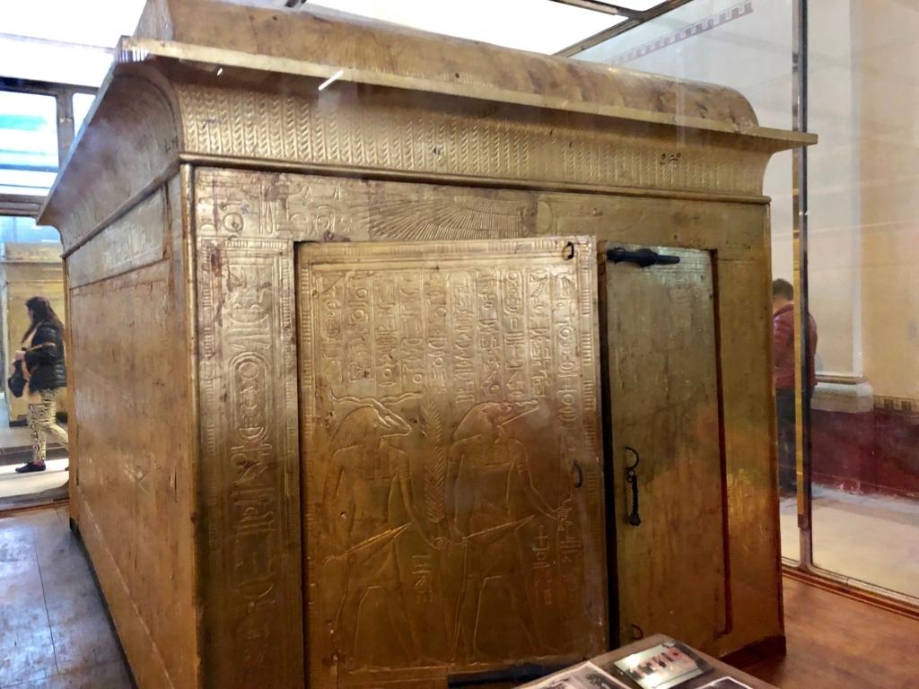 エジプト カイロ 「エジプト考古学博物館」ツタンカーメン 第三厨子