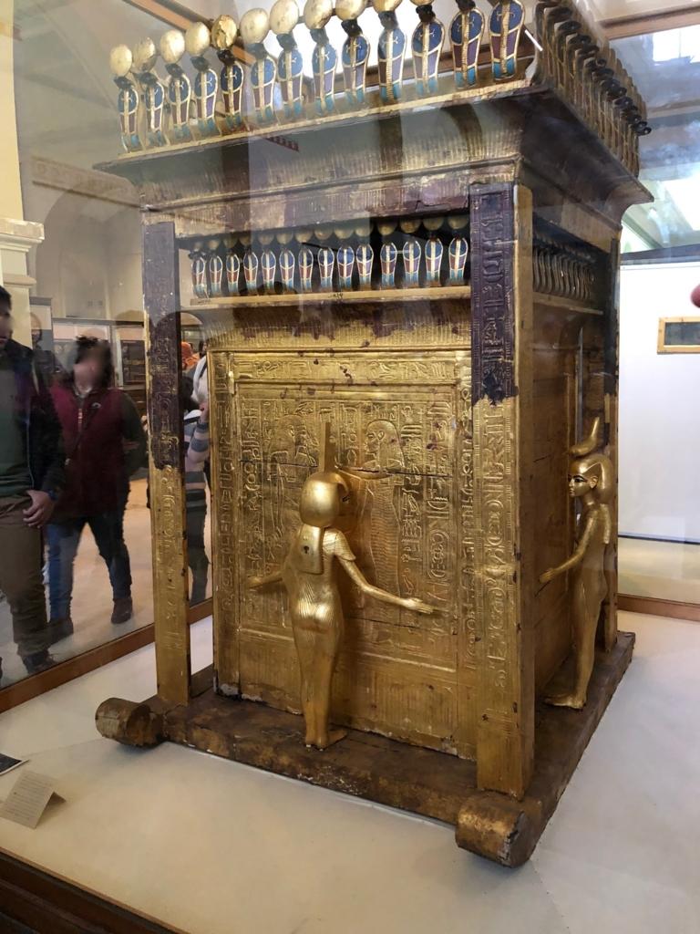 エジプト カイロ 「エジプト考古学博物館」ツタンカーメン カノープスの厨子