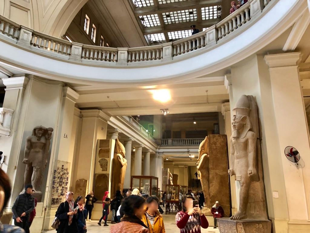 エジプト カイロ「エジプト考古学博物館」正面エリア