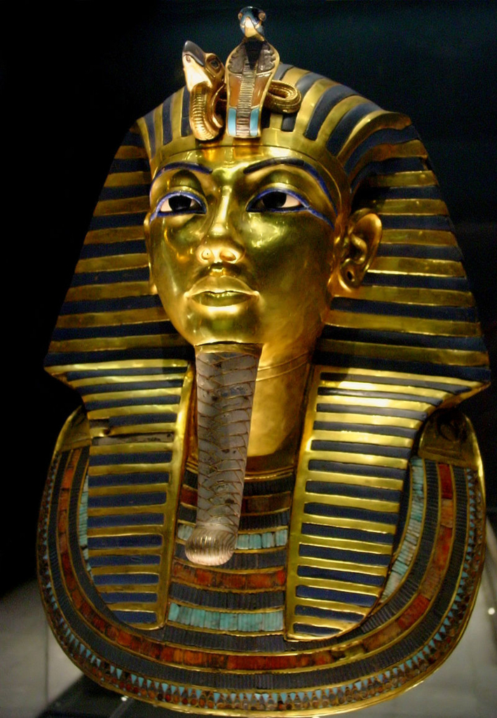 エジプト カイロ 「エジプト考古学博物館」ツタンカーメン 黄金のマスク by ja.wikipedia.org