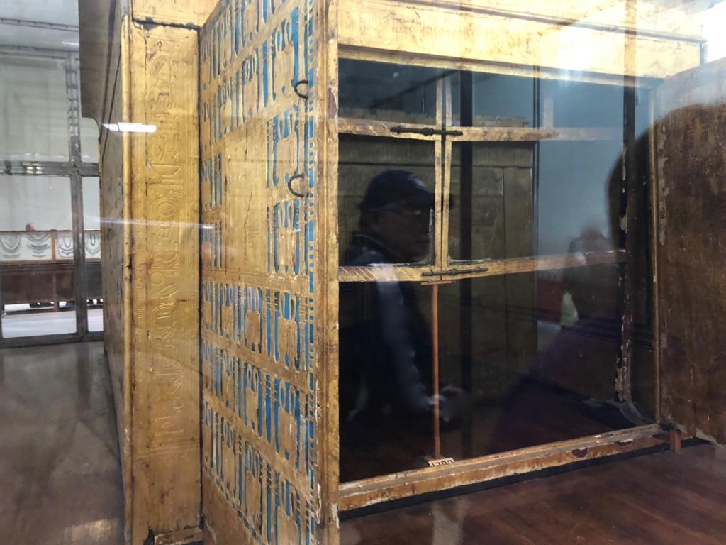 エジプト カイロ 「エジプト考古学博物館」ツタンカーメン 第一厨子 内側