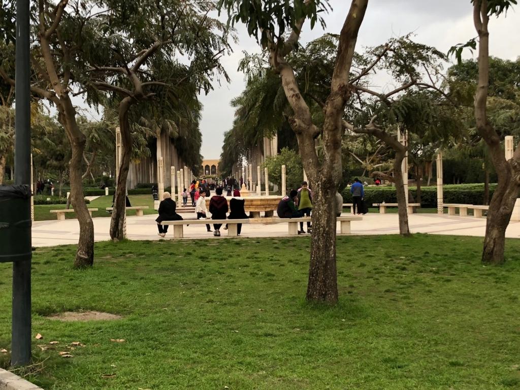 エジプト カイロ アズハルパーク ゆったいりとした時間