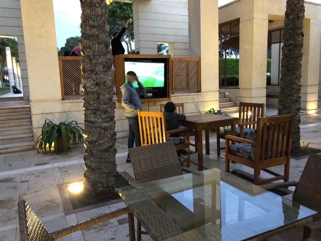 エジプト カイロ アズハルパーク 「Lakeside Cafe」店内