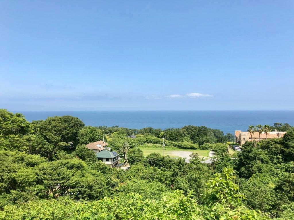 リゾート列車「伊豆クレイル IZU CRAILE」1号 車窓の風景 川奈駅付近