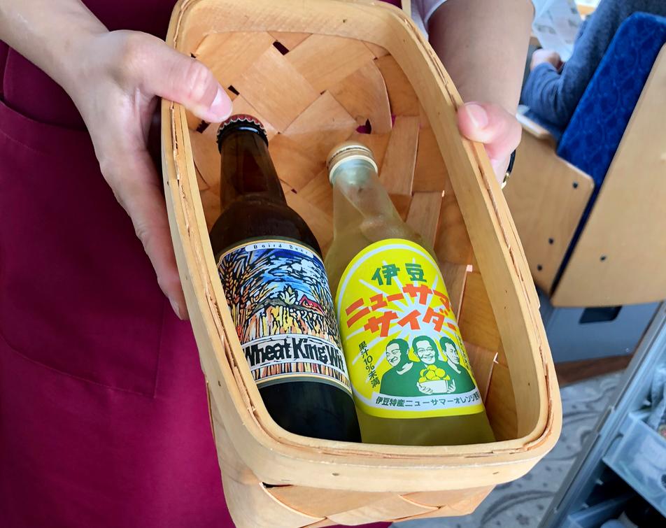 リゾート列車「伊豆クレイル IZU CRAILE」1号 「お飲物」ベアードビール/ニューサマーサイダー