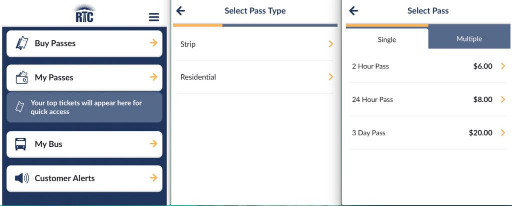 ラスベガス rideRTCアプリ XDayPass 購入手順