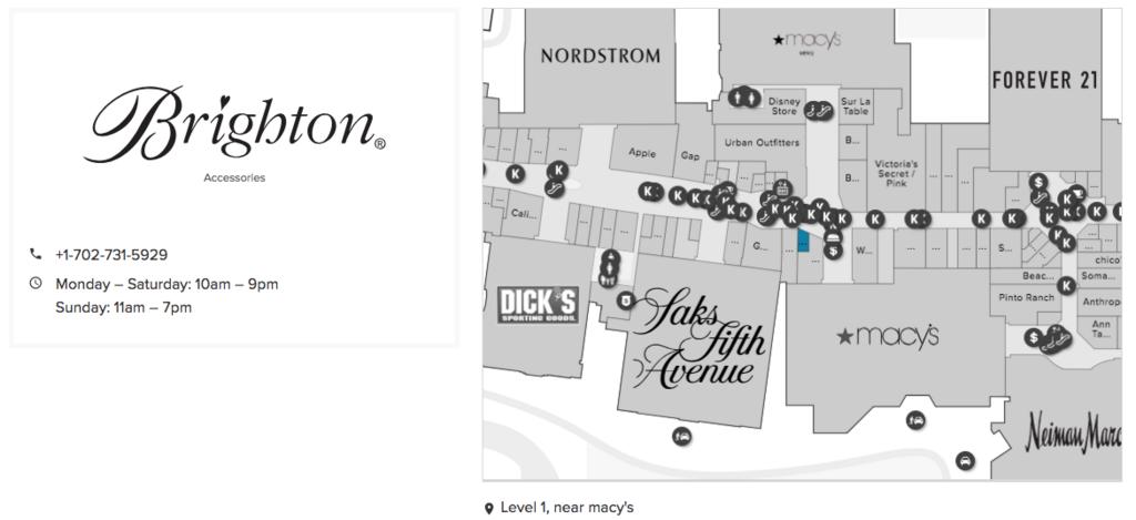 2018年2月 ラスベガス Fashion Show Mall Brighton アクセス