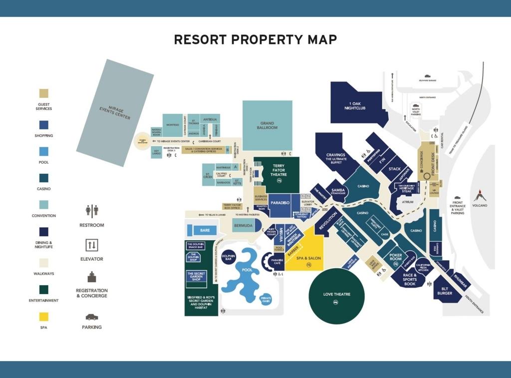 2018年2月ラスベガス ミラージュホテル マップ