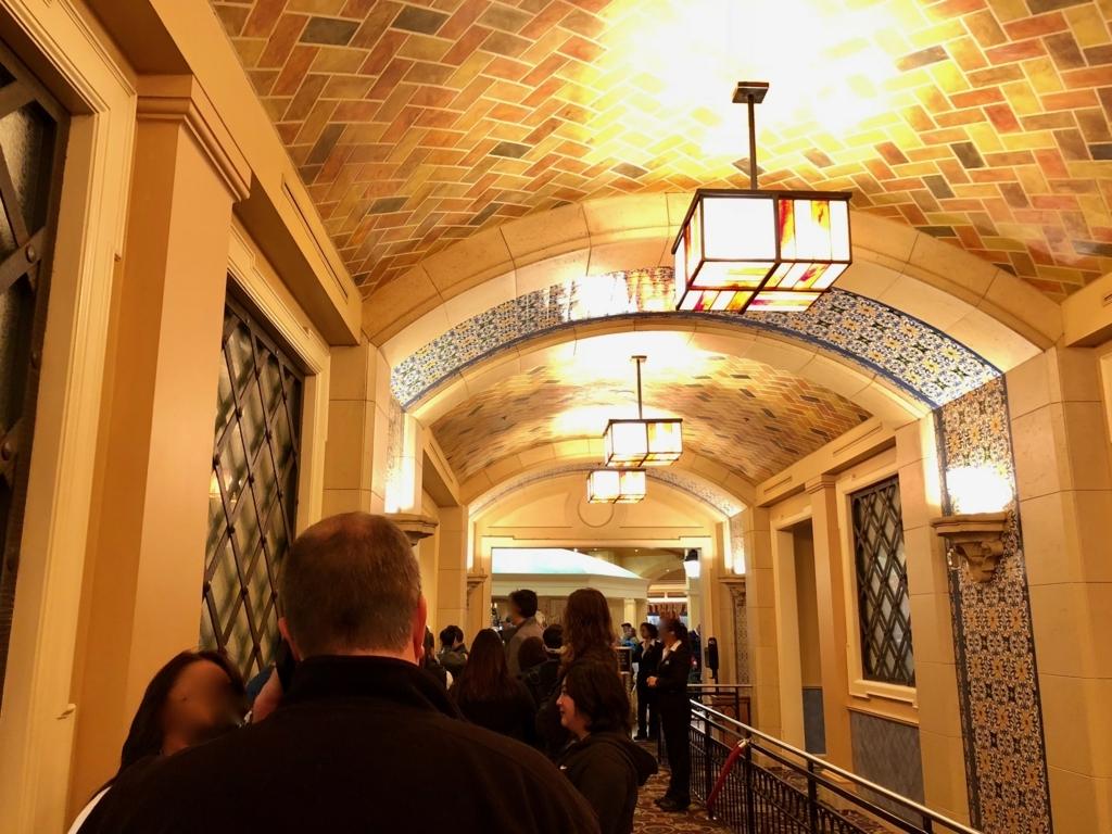 2018年2月 ラスベガス ベッラシオホテル バフェ待ちの列
