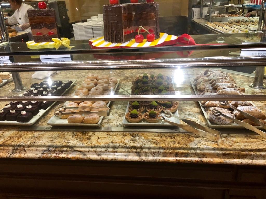 2018年2月 ラスベガス ベッラシオホテル 朝食バフェ デザート類