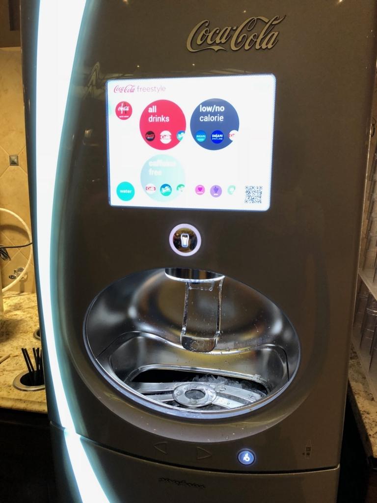 2018年2月 ラスベガス ベッラシオホテル バフェ ドリンクバー 氷もでる装置
