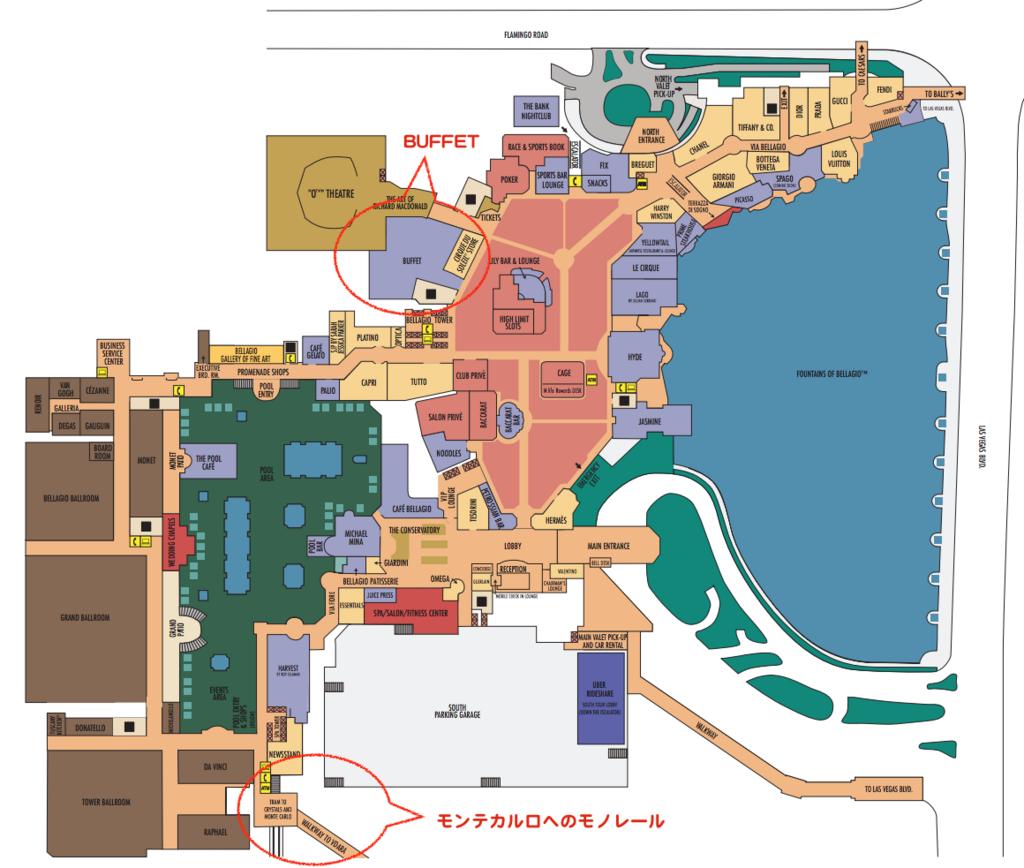 ベラッシオ ホテルマップ by www.bellagio.com