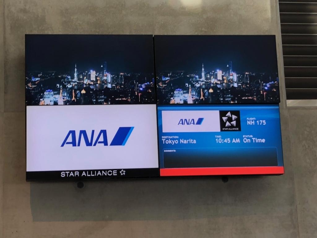 2018年2月 ロサンゼルス-成田 NH175便 ON TIME
