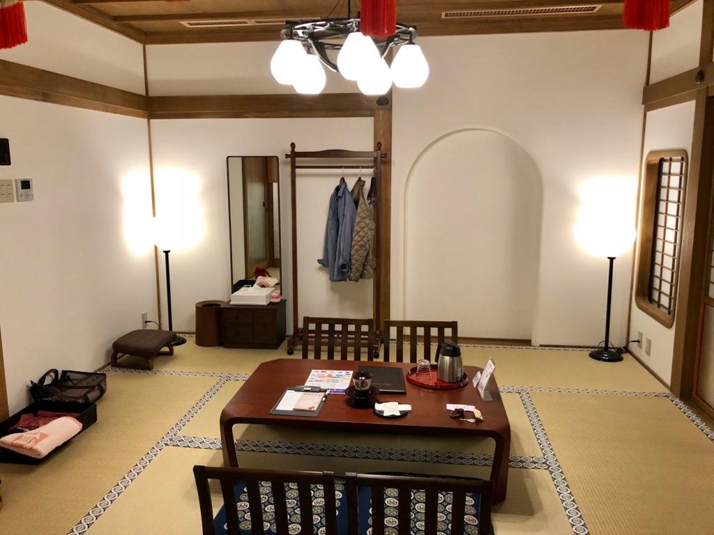 2018年3月 愛媛県 道後温泉 「飛鳥乃湯泉」特別浴室2 休憩室