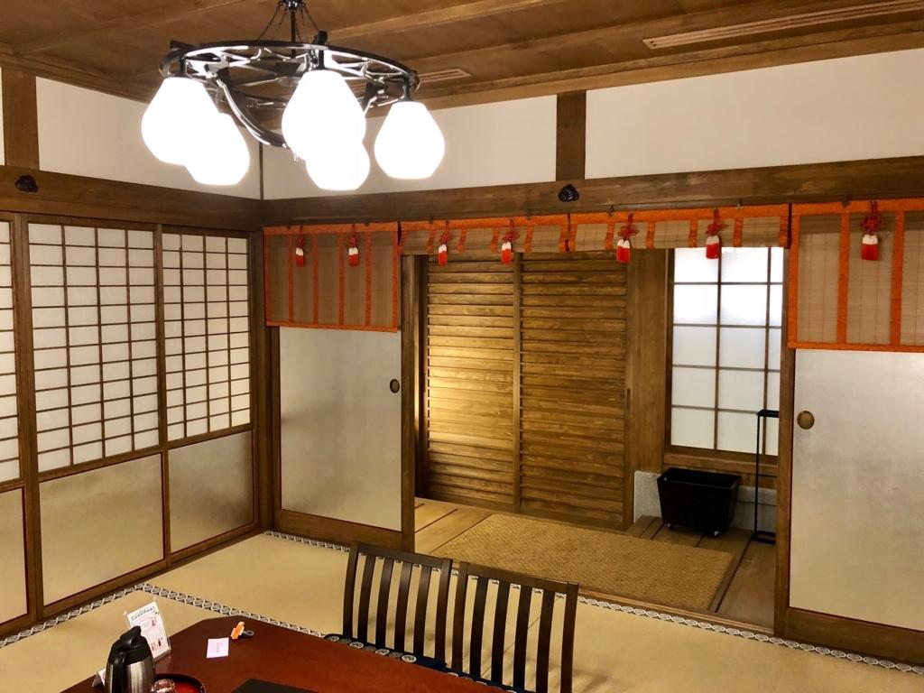 2018年3月 愛媛県 道後温泉 「飛鳥乃湯泉」特別浴室2 御簾(みす)