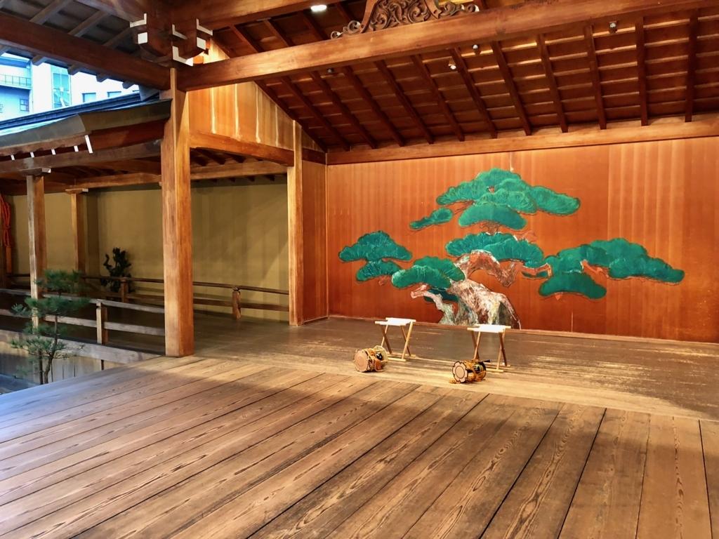 道後温泉 「大和屋本館」能舞台 「千寿殿」本舞台と後座