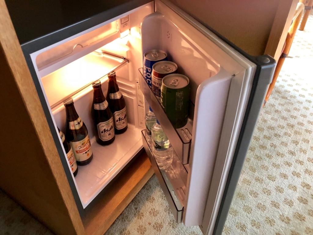 愛媛県 道後温泉 「大和屋本店」スタンダード和室 冷蔵庫