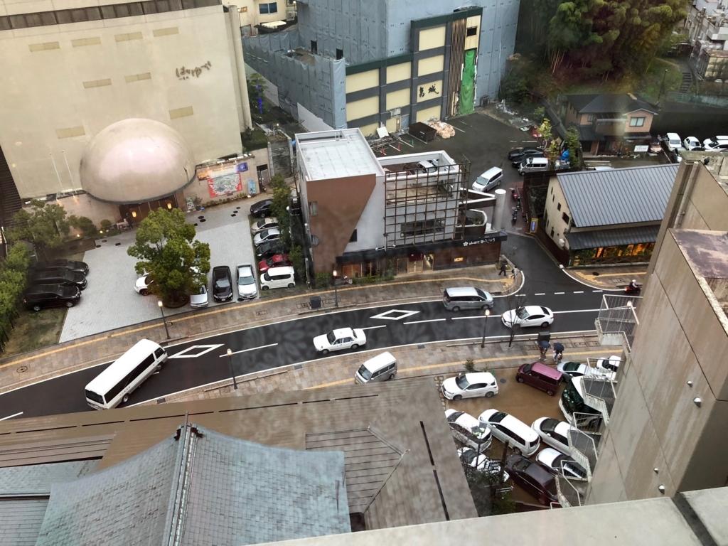 愛媛県 道後温泉 「大和屋本店」部屋からの風景