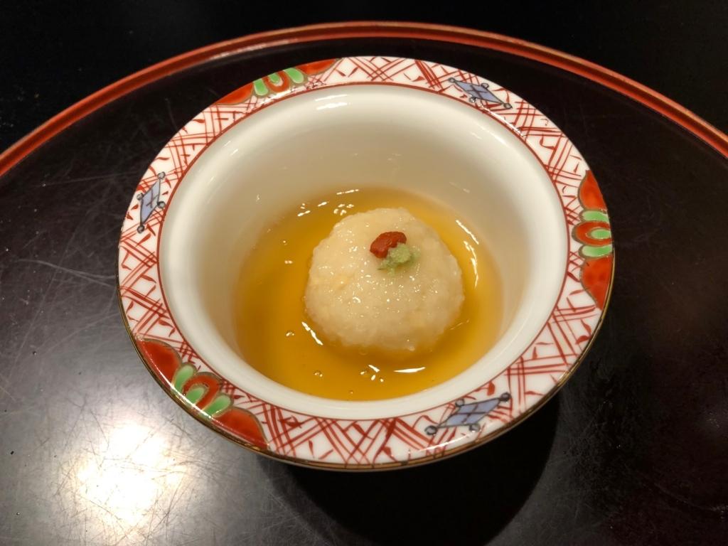 愛媛県 道後温泉 「大和屋本店」和食レストラン 「松風」夕食 蓋物