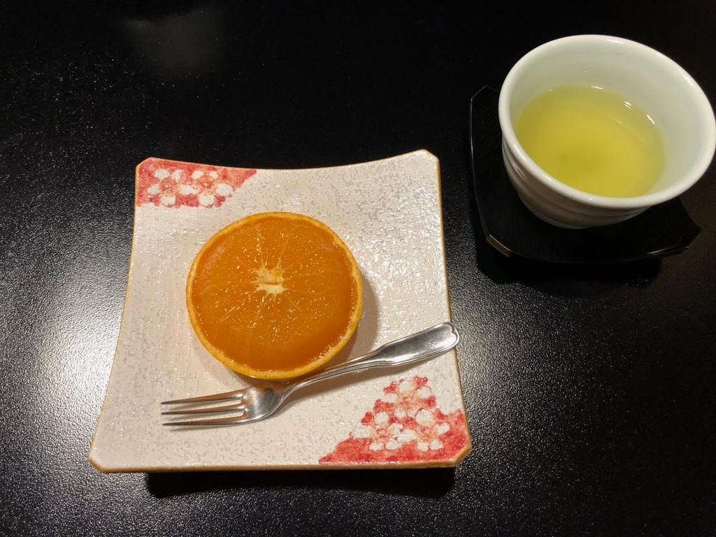 愛媛県 道後温泉 「大和屋本店」和食レストラン 「松風」夕食 水物