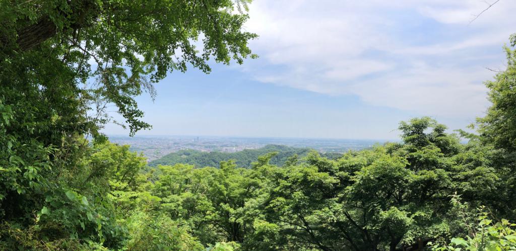 2018年5月 高尾山 一号路 金比羅台 ベンチで休憩