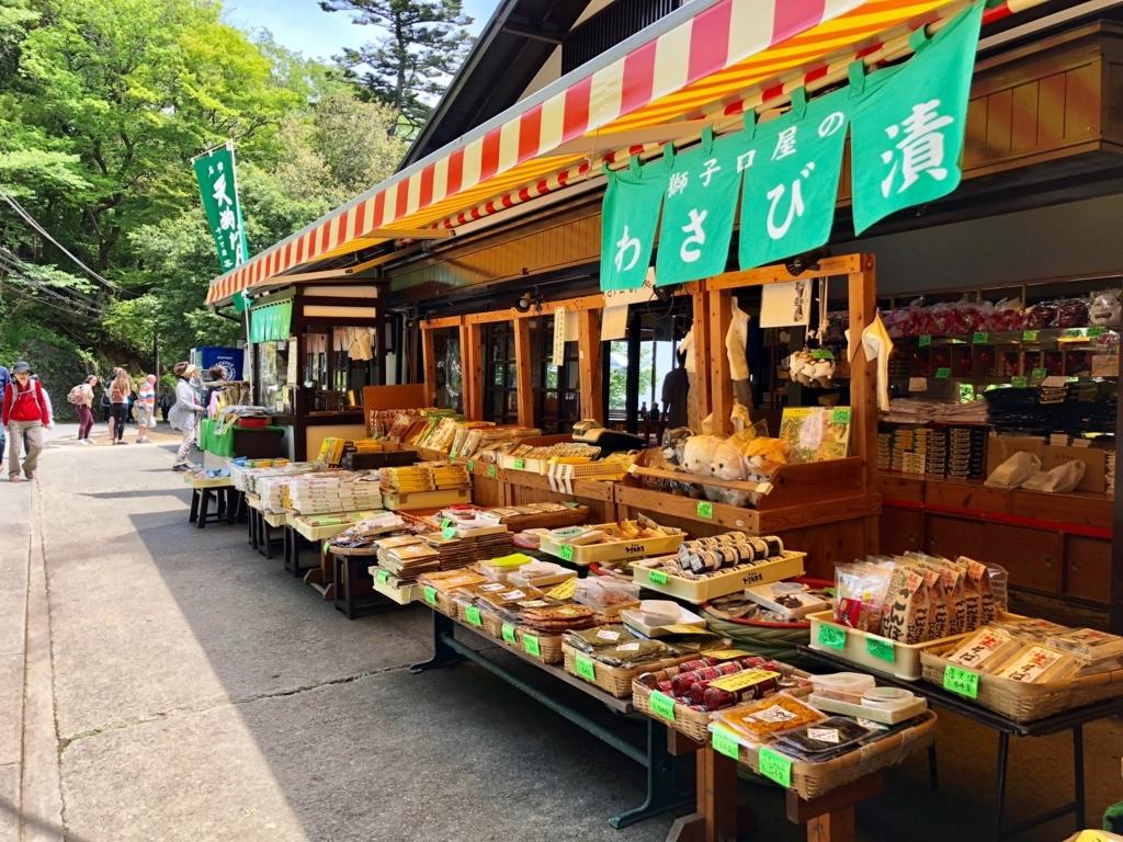 2018年5月 高尾山 ケーブルカー 高尾山駅周辺 ショップ
