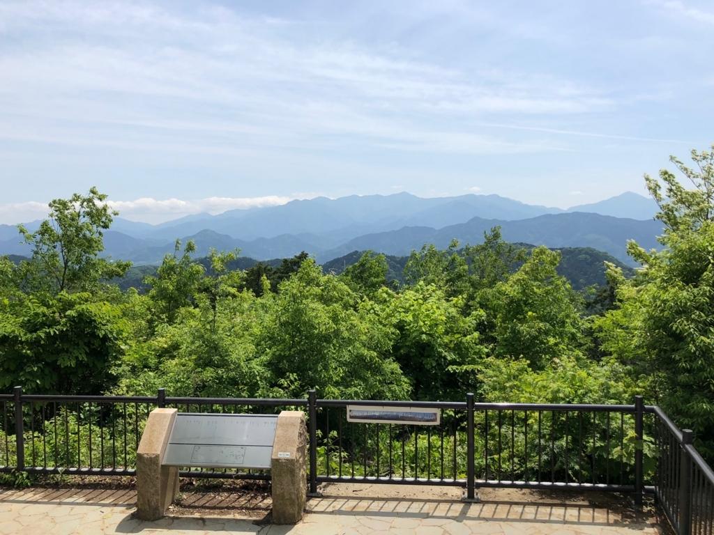 018年5月 高尾山 大見晴園地 からの眺望