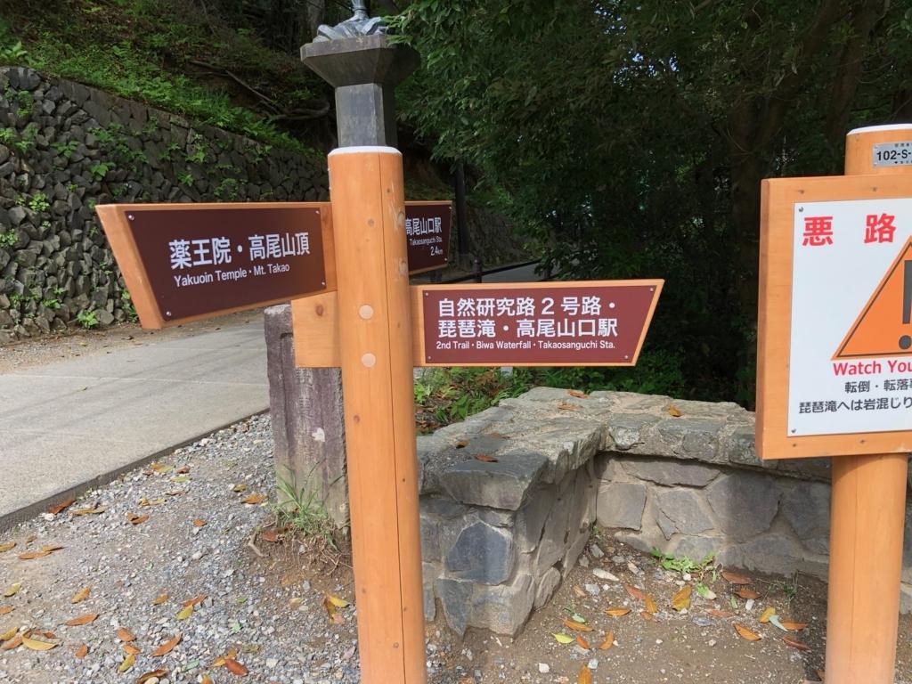 2018年5月 高尾山 中腹 ビュースポット 左端 2号路入り口