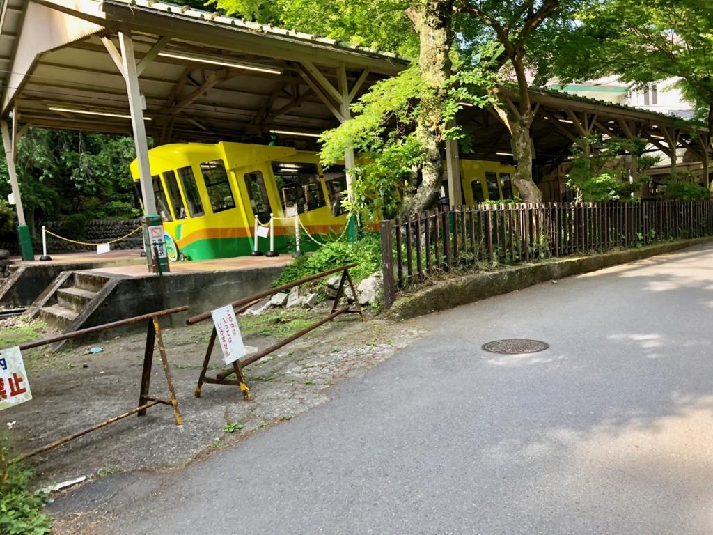2018年5月 高尾山 6号路 ケーブルカー 清滝駅