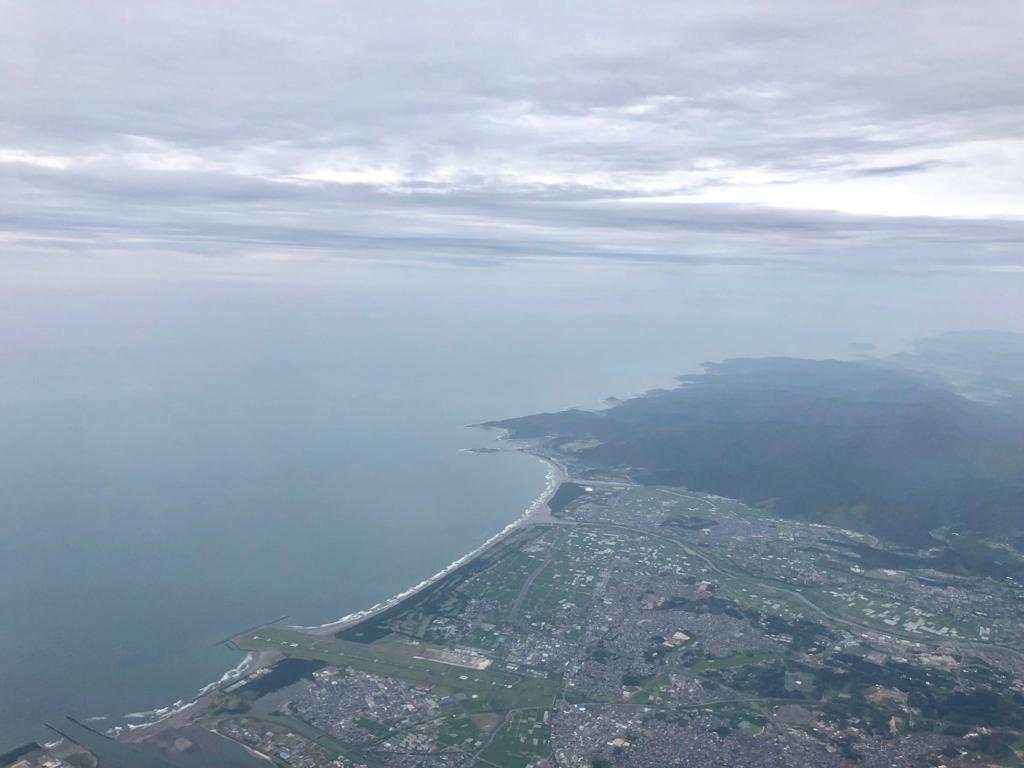 2018年5月 ANA 羽田-鹿児島 大隅半島 上空
