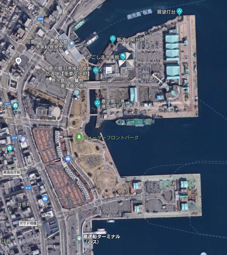 鹿児島港周辺マップ