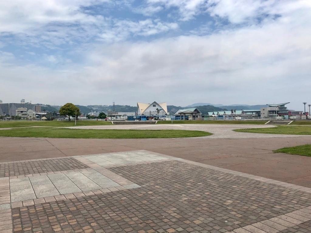 2018年5月 鹿児島ウォーターフロントパーク 高速船ターミナル近く