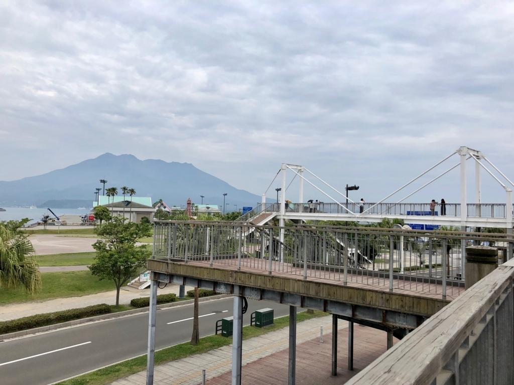 2018年5月 鹿児島ウォーターフロント「ドルフィンポート」2階 「ボサド橋」