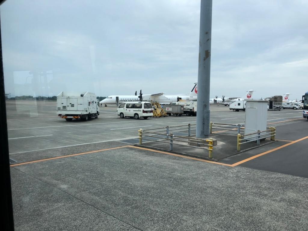 2018年5月 鹿児島空港-屋久島空港 プロペラ機 待機