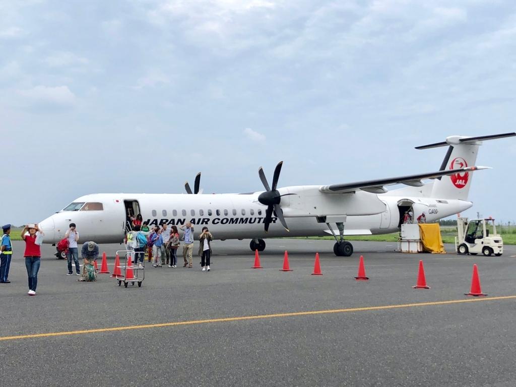 2018年5月 屋久島空港 鹿児島空港からプロペラ機で到着