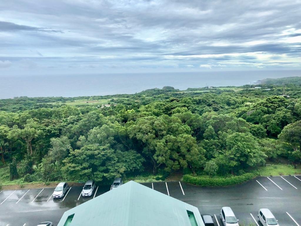 2018年5月 鹿児島県屋久島 「屋久島いわさきホテル」駐車場