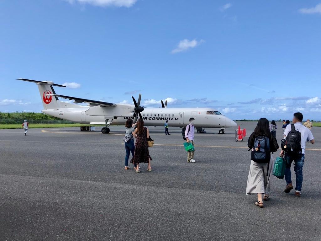 2018年5月 屋久島空港 鹿児島空港行きに搭乗