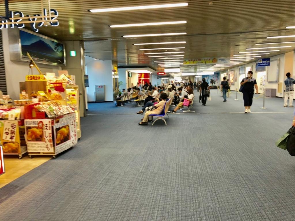 2018年5月 鹿児島空港 セキュリティ内