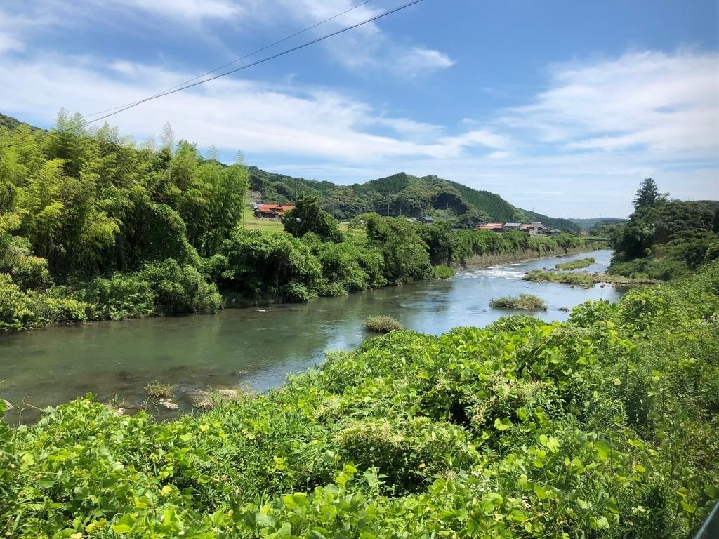 2018年6月 山口県 JR美祢線 厚狭駅から長門市駅 車窓の風景 前半