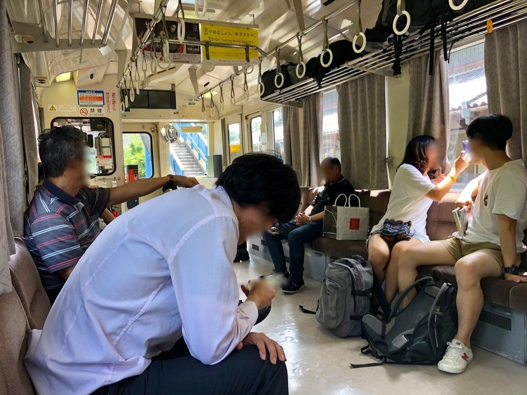 2018年6月 山口県 JR美祢線 車内