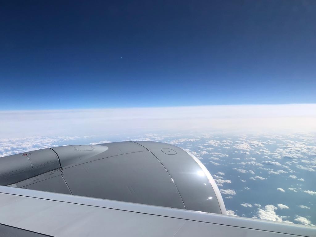 2018年2月 ロサンゼルス-成田 NH175便 上空写真