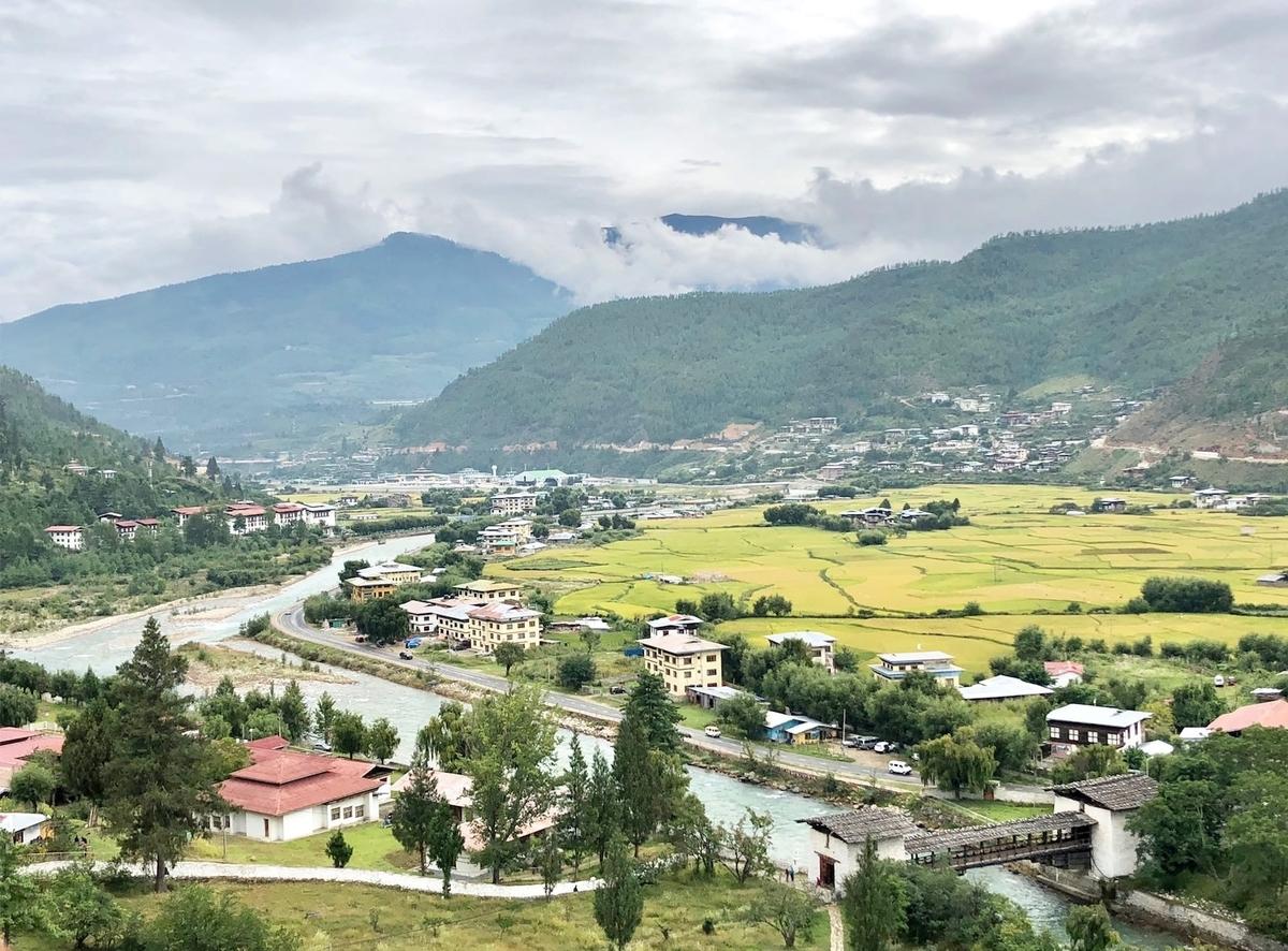 2018年9月 ブータン王国 パロの田園風景