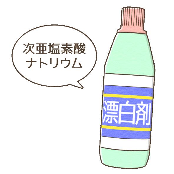塩素系漂白剤(ハイター)と水の割合