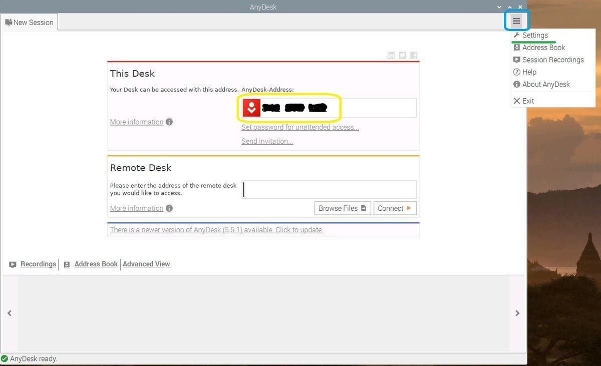 anydesk settings