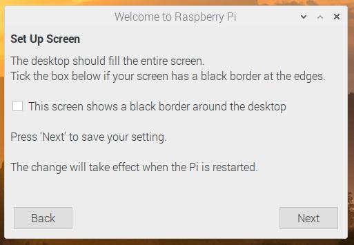 setup check screen